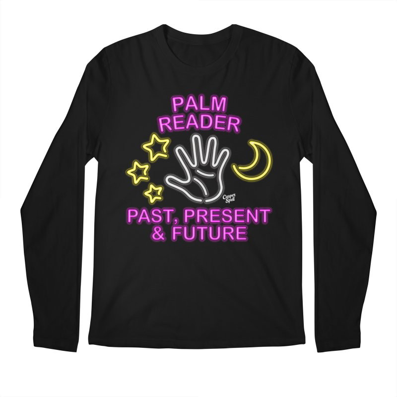 Neon Psychic Fortune Palm Reader Men's Longsleeve T-Shirt by Casper Spell's Shop