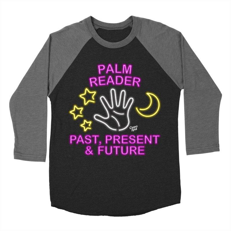Neon Psychic Fortune Palm Reader Men's Baseball Triblend T-Shirt by Casper Spell's Shop
