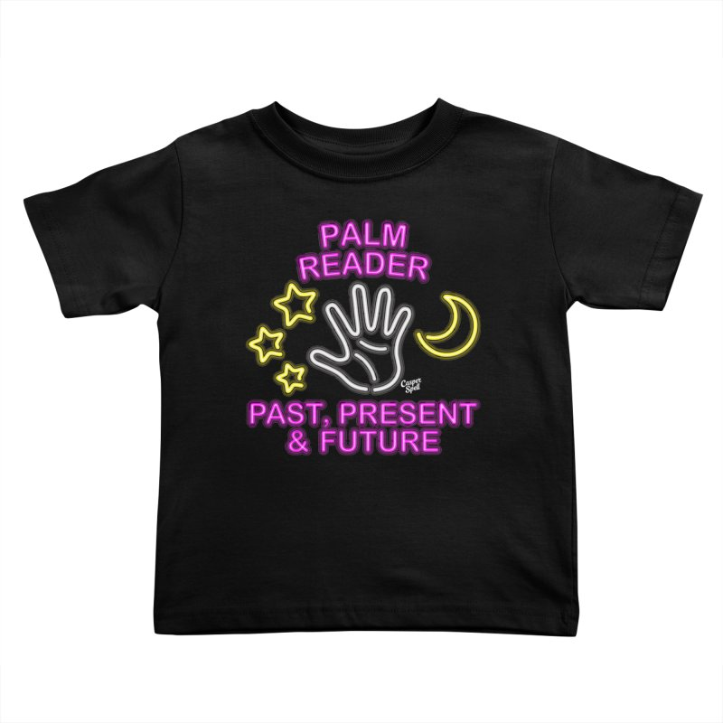 Neon Psychic Fortune Palm Reader Kids Toddler T-Shirt by Casper Spell's Shop