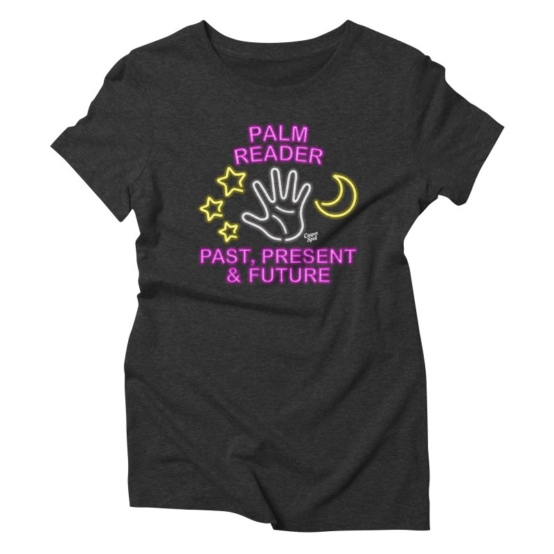 Neon Psychic Fortune Palm Reader Women's Triblend T-shirt by Casper Spell's Shop