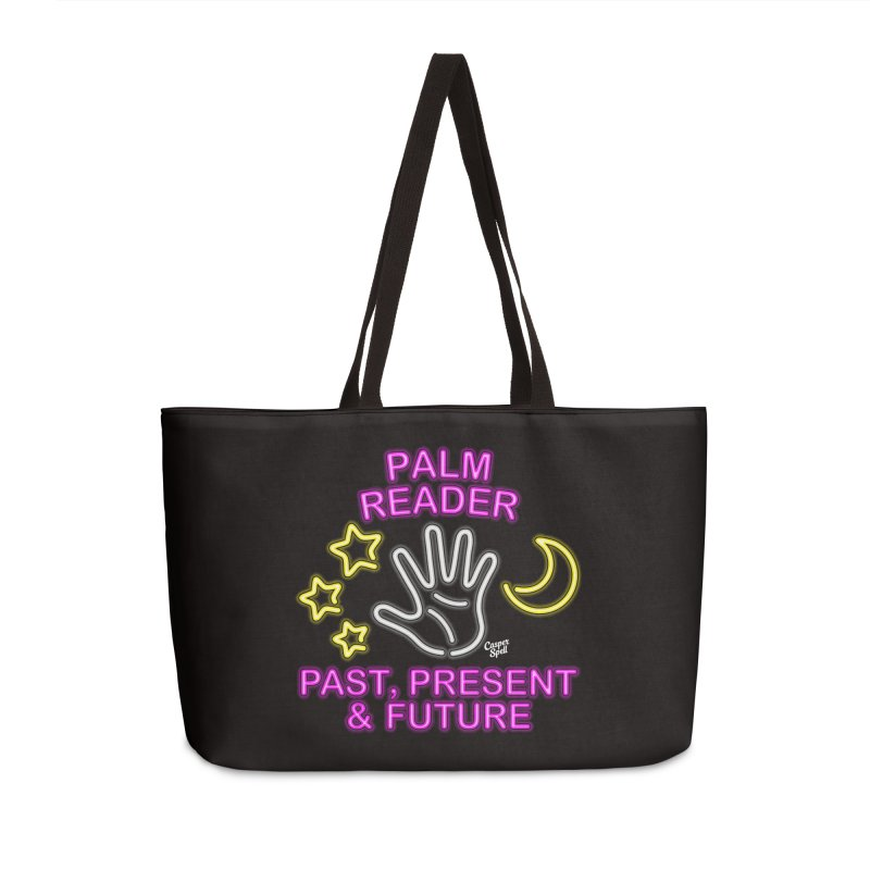 Neon Psychic Fortune Palm Reader Accessories Bag by Casper Spell's Shop