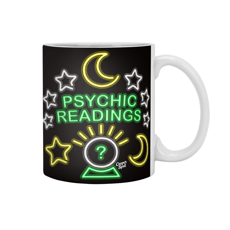 Neon Sign Psychic Reader Readings Accessories Mug by Casper Spell's Shop