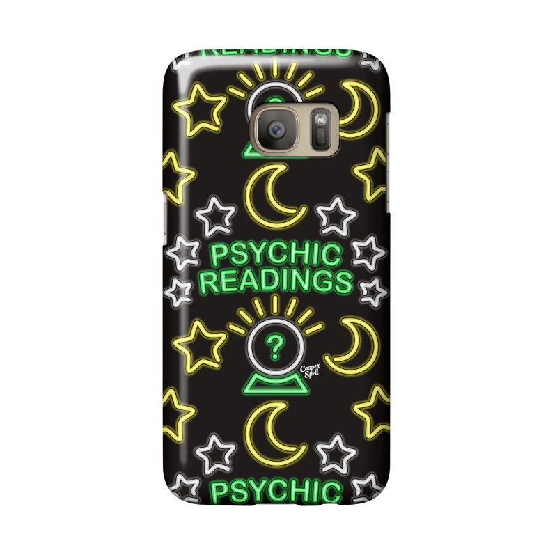 Neon Sign Psychic Reader Readings Accessories Phone Case by Casper Spell's Shop