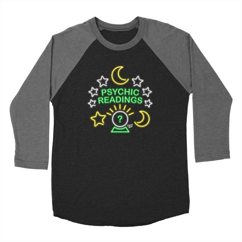 Neon Sign Psychic Reader Readings Women's Longsleeve T-Shirt by Casper Spell's Shop