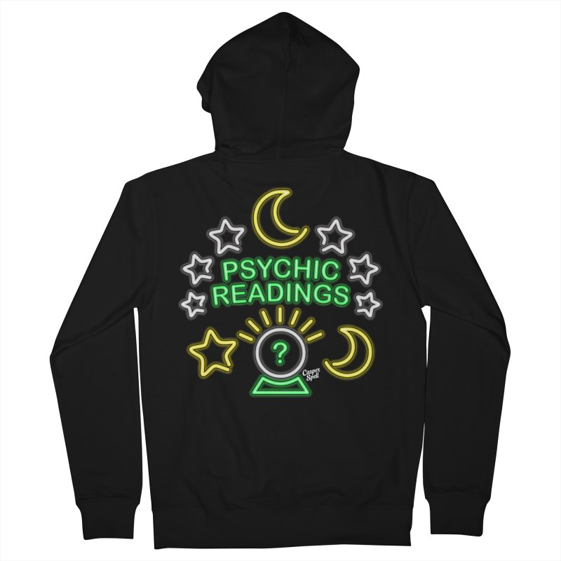 Neon Sign Psychic Reader Readings Women's Zip-Up Hoody by Casper Spell's Shop