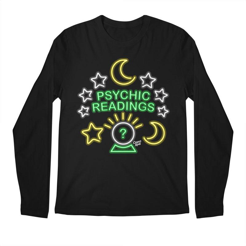 Neon Sign Psychic Reader Readings Men's Longsleeve T-Shirt by Casper Spell's Shop