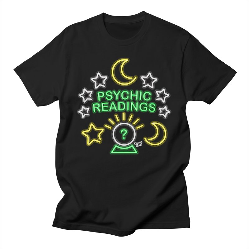 Neon Sign Psychic Reader Readings Men's T-Shirt by Casper Spell's Shop