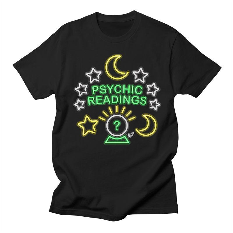 Neon Sign Psychic Reader Readings in Men's T-shirt Black by Casper Spell's Shop
