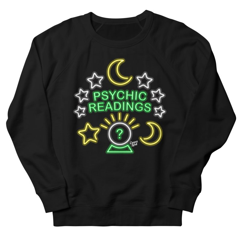 Neon Sign Psychic Reader Readings Men's Sweatshirt by Casper Spell's Shop