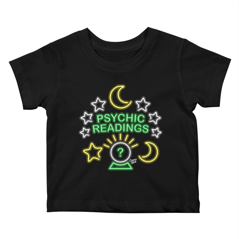 Neon Sign Psychic Reader Readings Kids Baby T-Shirt by Casper Spell's Shop