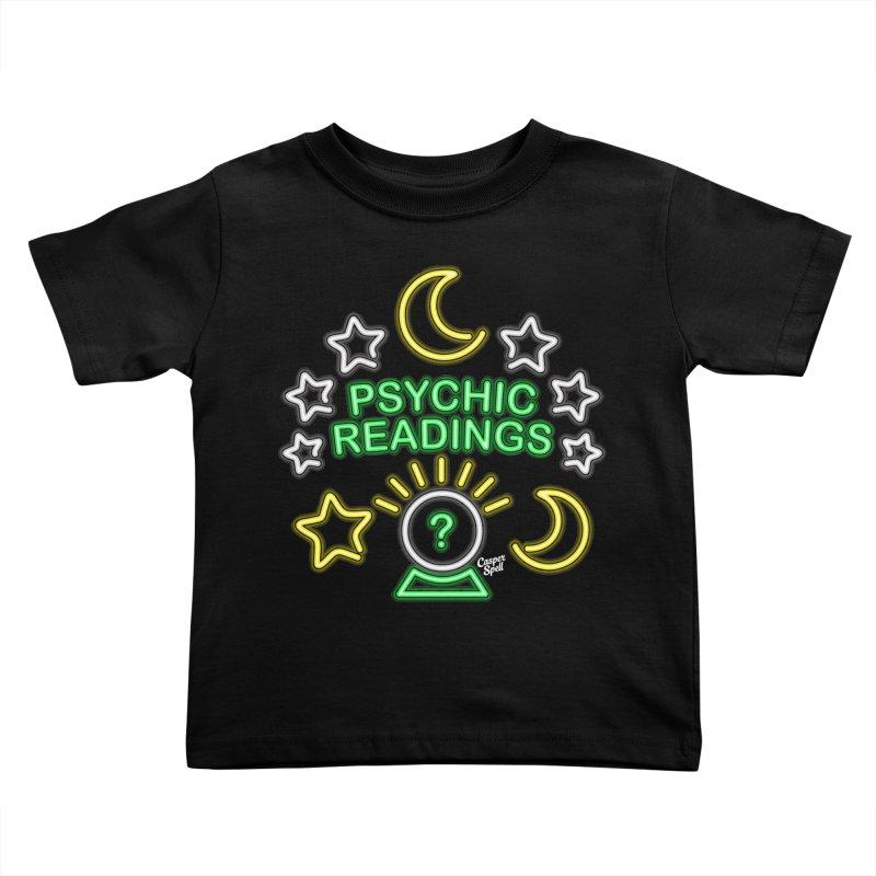 Neon Sign Psychic Reader Readings Kids Toddler T-Shirt by Casper Spell's Shop