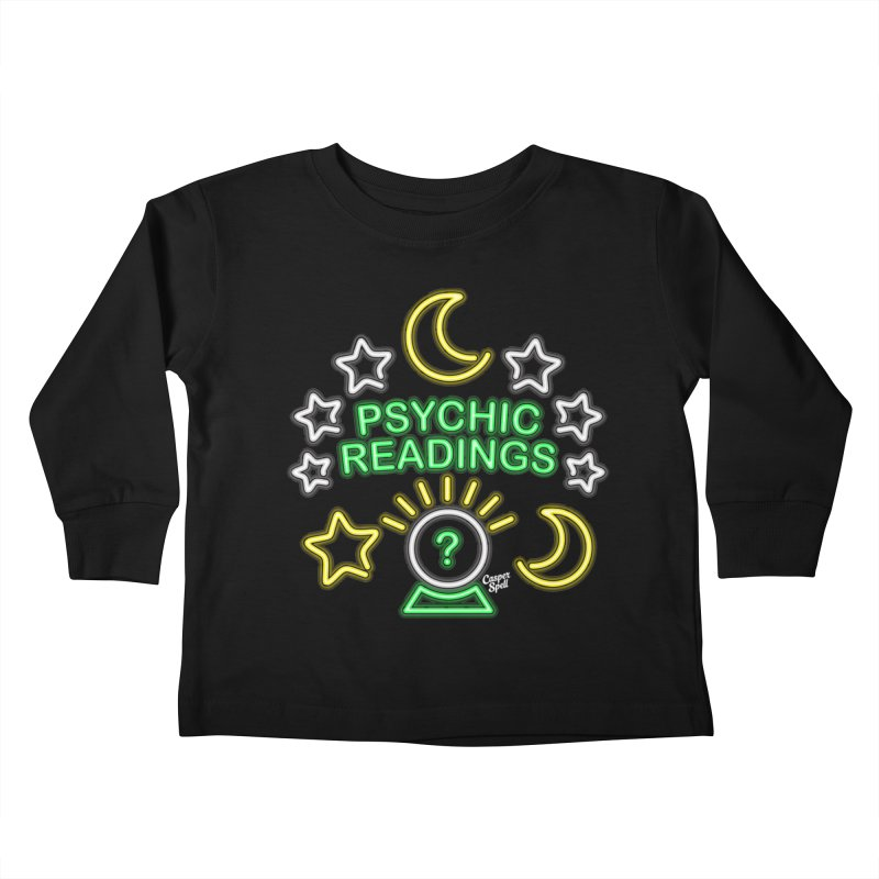 Neon Sign Psychic Reader Readings Kids Toddler Longsleeve T-Shirt by Casper Spell's Shop