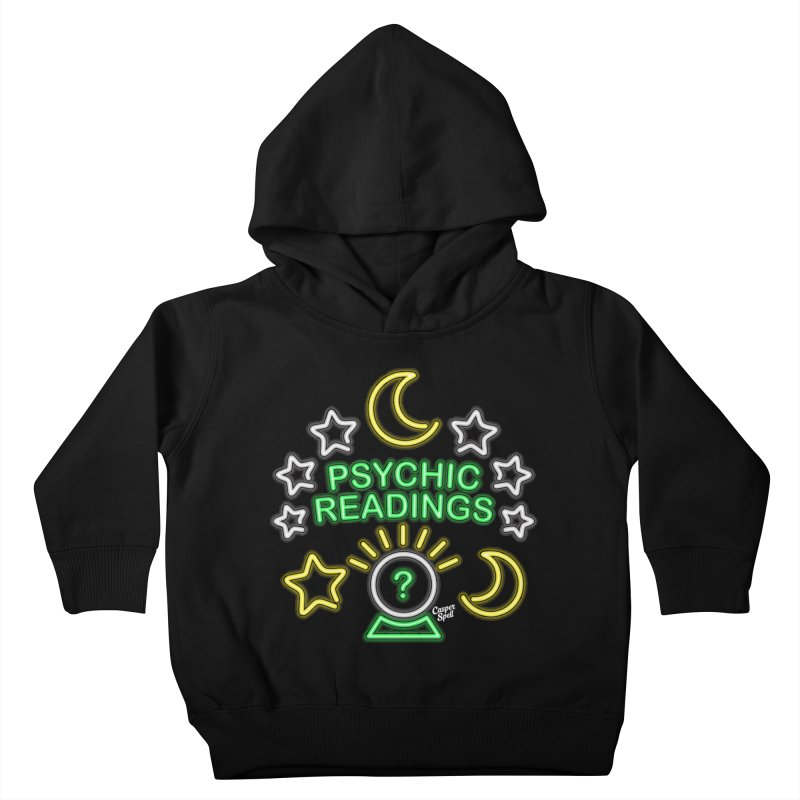 Neon Sign Psychic Reader Readings Kids Toddler Pullover Hoody by Casper Spell's Shop