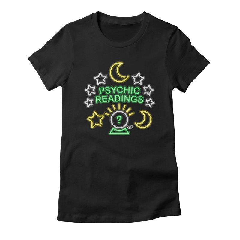Neon Sign Psychic Reader Readings Women's T-Shirt by Casper Spell's Shop