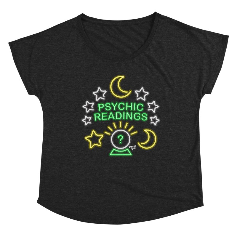 Neon Sign Psychic Reader Readings Women's Scoop Neck by Casper Spell's Shop