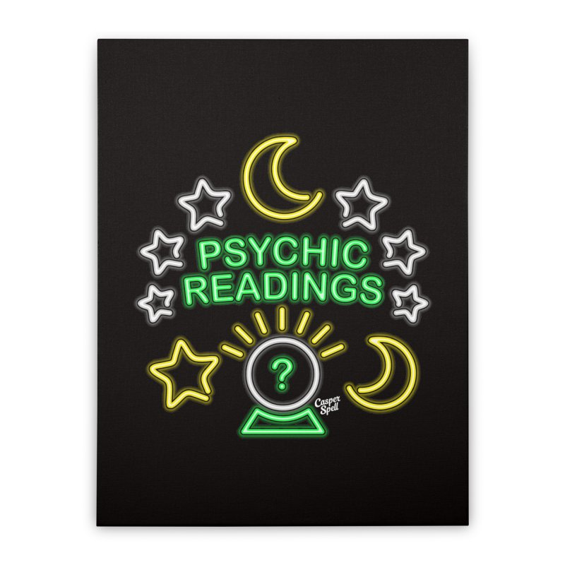 Neon Sign Psychic Reader Readings Home Stretched Canvas by Casper Spell's Shop