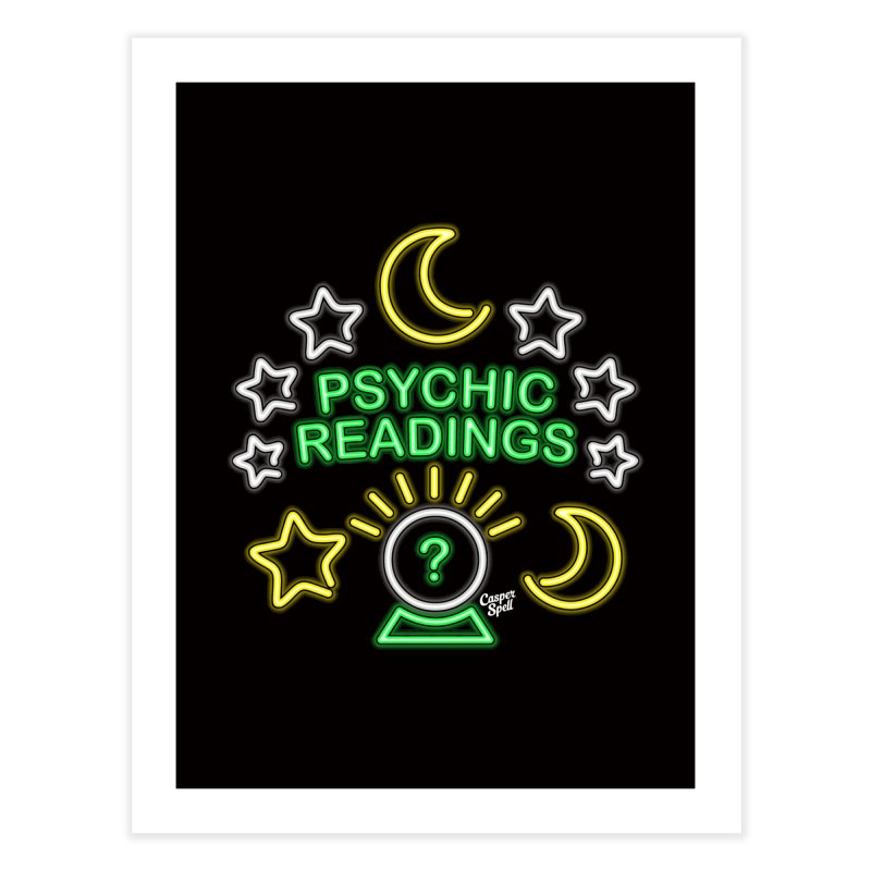 Neon Sign Psychic Reader Readings Home Fine Art Print by Casper Spell's Shop