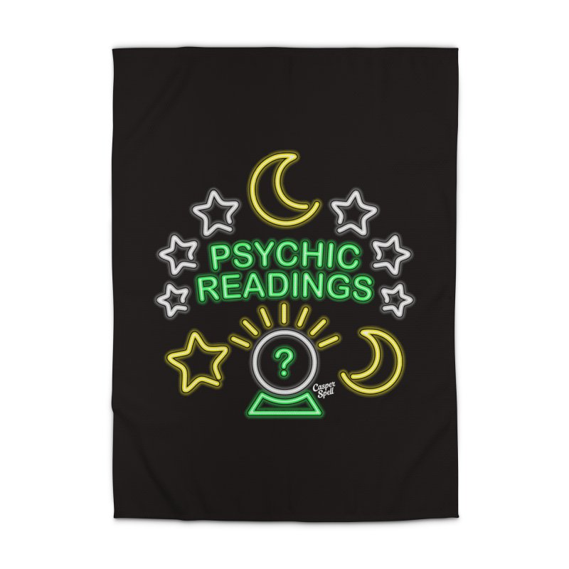 Neon Sign Psychic Reader Readings Home Rug by Casper Spell's Shop