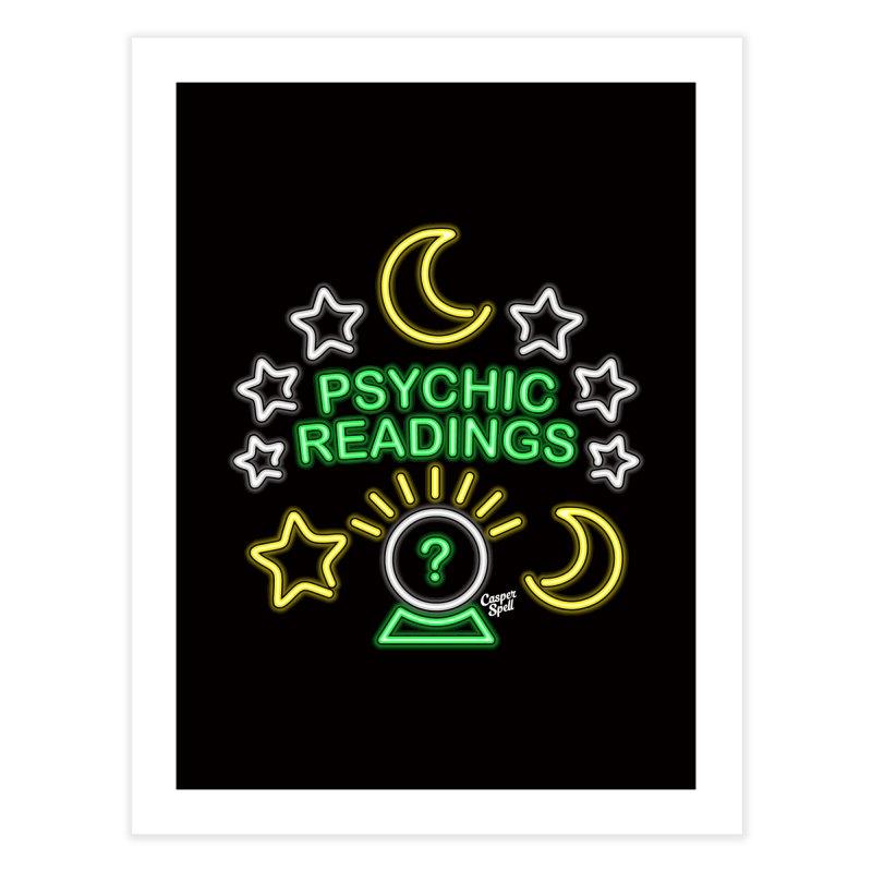 Neon Sign Psychic Reader Readings Home Fine Art Print by Casper Spell's Shop