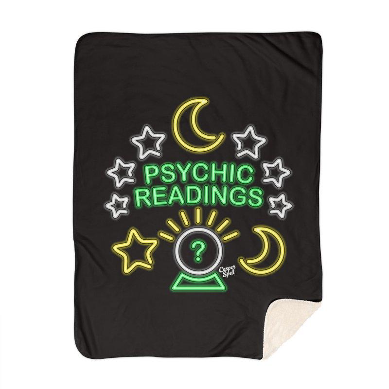 Neon Sign Psychic Reader Readings Home Blanket by Casper Spell's Shop