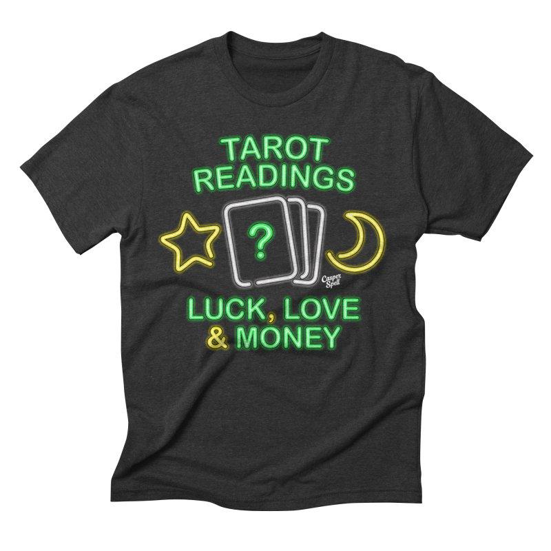Neon Sign Psychic Tarot Readings  Men's T-Shirt by Casper Spell's Shop