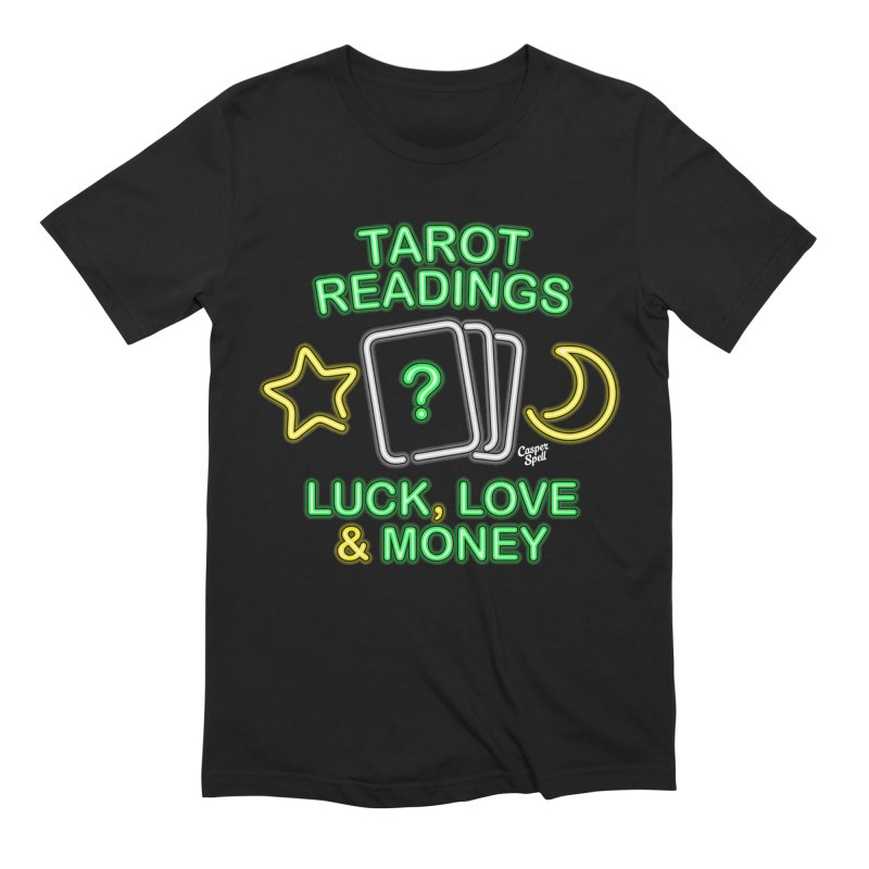 Neon Sign Psychic Tarot Readings  Men's T-Shirt by Casper Spell's Shop