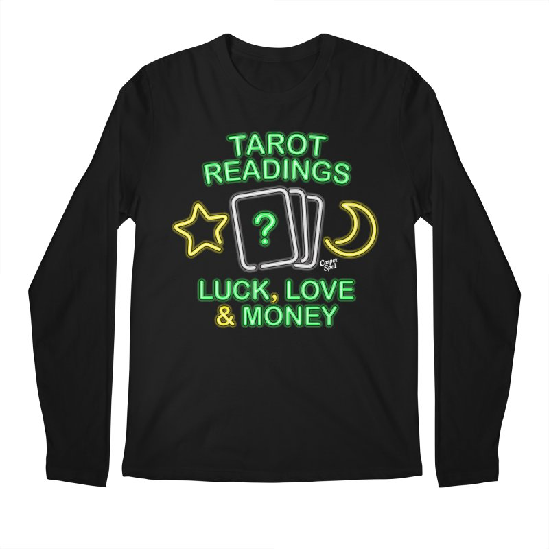 Neon Sign Psychic Tarot Readings  Men's Longsleeve T-Shirt by Casper Spell's Shop