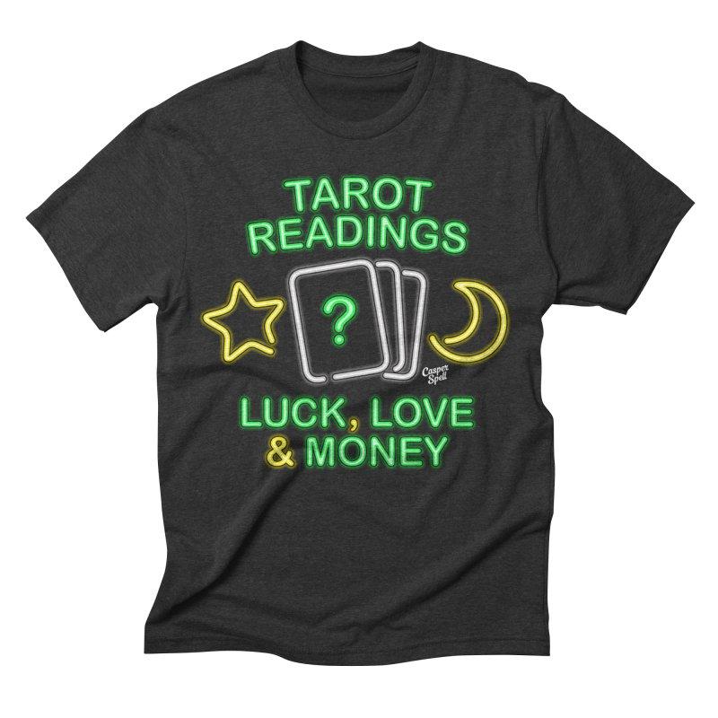 Neon Sign Psychic Tarot Readings  Men's Triblend T-shirt by Casper Spell's Shop