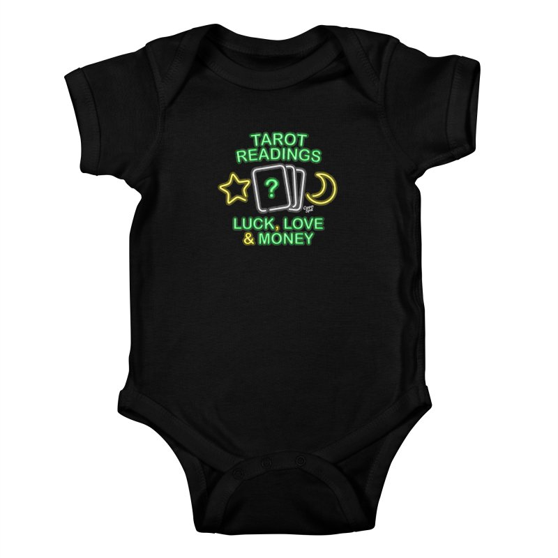 Neon Sign Psychic Tarot Readings  Kids Baby Bodysuit by Casper Spell's Shop