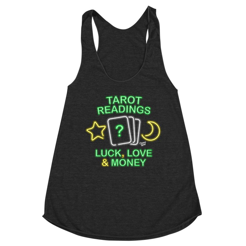 Neon Sign Psychic Tarot Readings  Women's Tank by Casper Spell's Shop