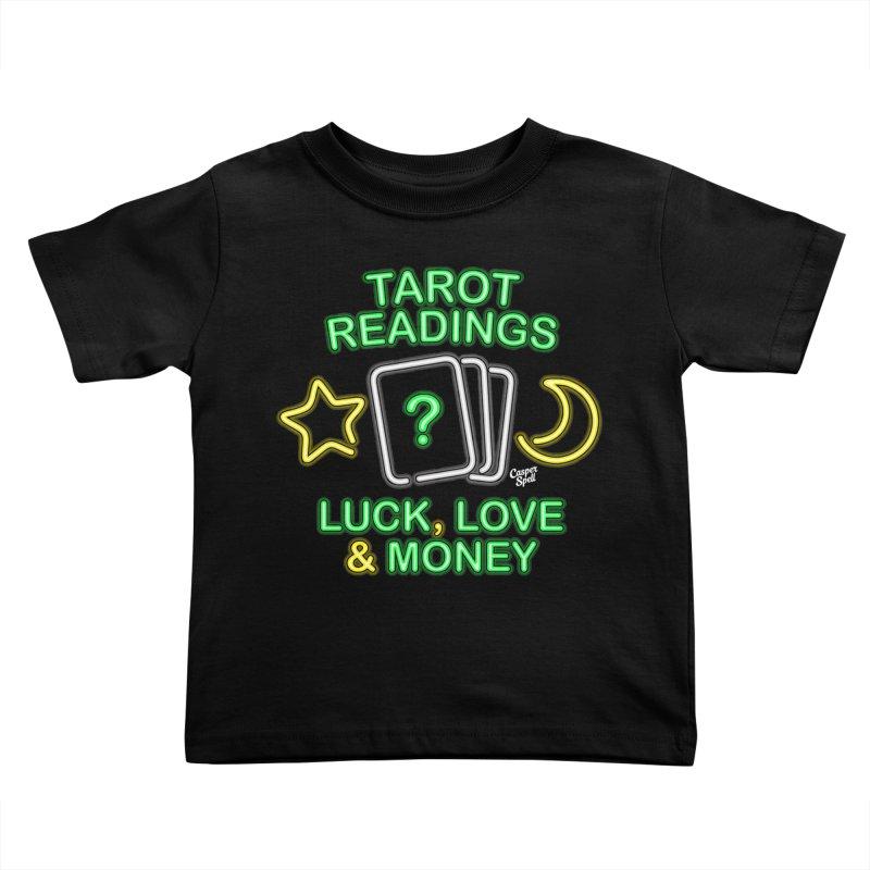 Neon Sign Psychic Tarot Readings  Kids Toddler T-Shirt by Casper Spell's Shop