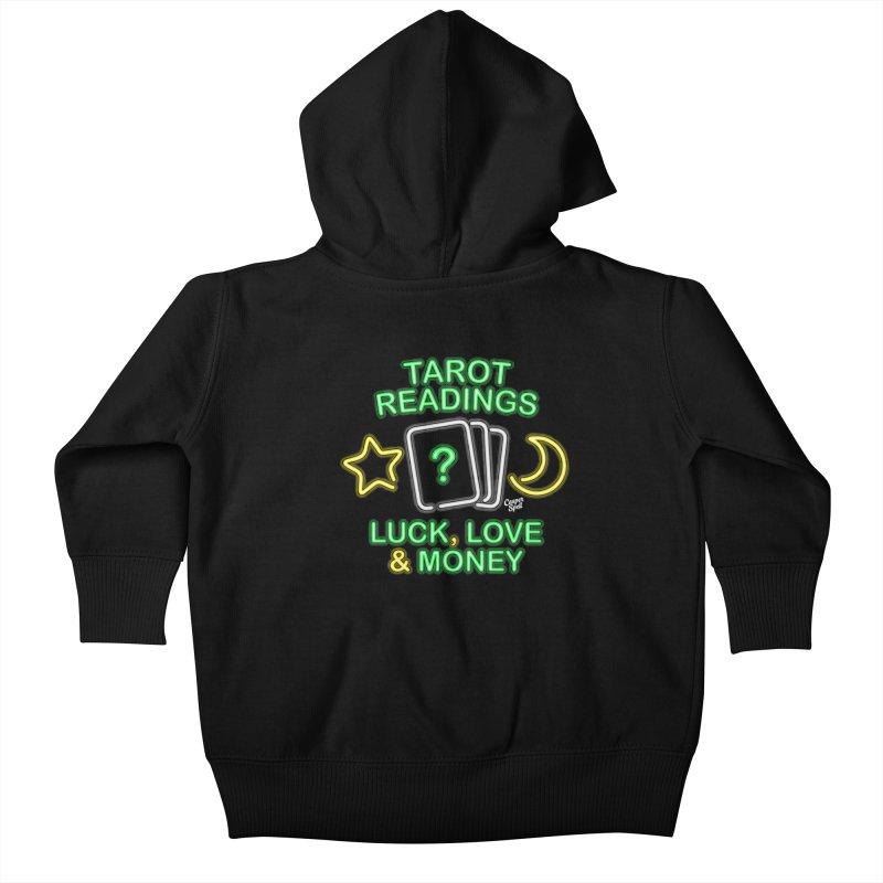 Neon Sign Psychic Tarot Readings  Kids Baby Zip-Up Hoody by Casper Spell's Shop