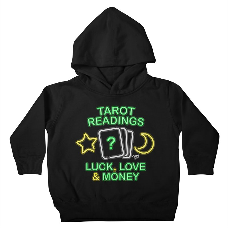 Neon Sign Psychic Tarot Readings  Kids Toddler Pullover Hoody by Casper Spell's Shop