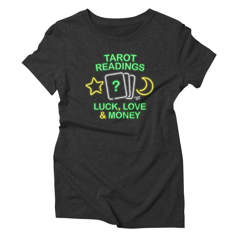 Neon Sign Psychic Tarot Readings  Women's T-Shirt by Casper Spell's Shop