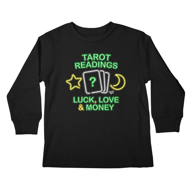 Neon Sign Psychic Tarot Readings  Kids Longsleeve T-Shirt by Casper Spell's Shop