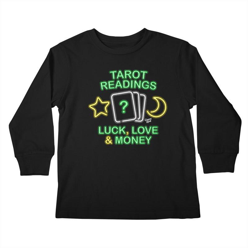 Neon Sign Psychic Tarot Readings  Kids Longsleeve T-Shirt by Casper Spell's Shop