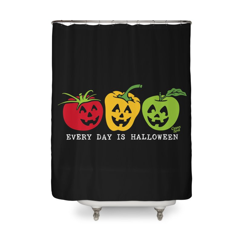 Every Day Is Halloween Home Shower Curtain by Casper Spell's Shop