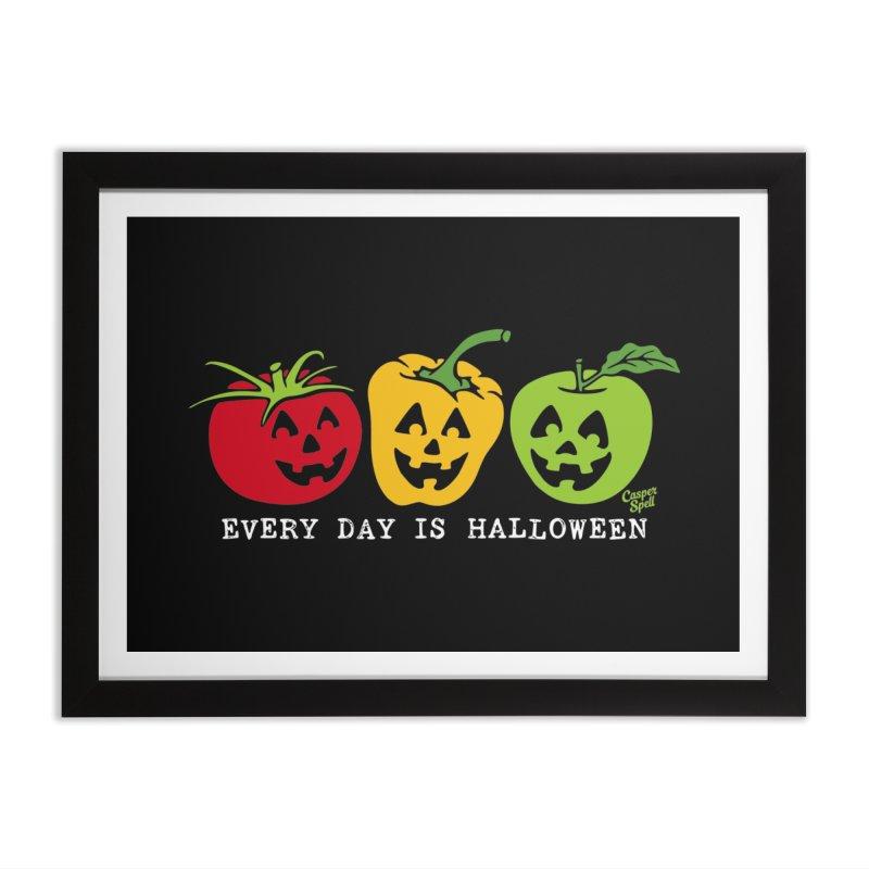 Every Day Is Halloween Home Framed Fine Art Print by Casper Spell's Shop