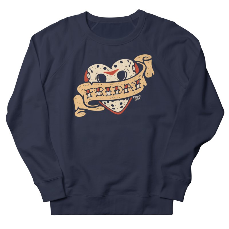 Friday Heart Tattoo  Men's Sweatshirt by Casper Spell's Shop