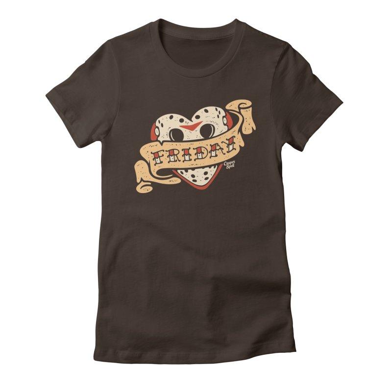 Friday Heart Tattoo  Women's T-Shirt by Casper Spell's Shop