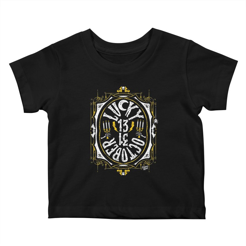 Lucky 13 31 October Kids Baby T-Shirt by Casper Spell's Shop