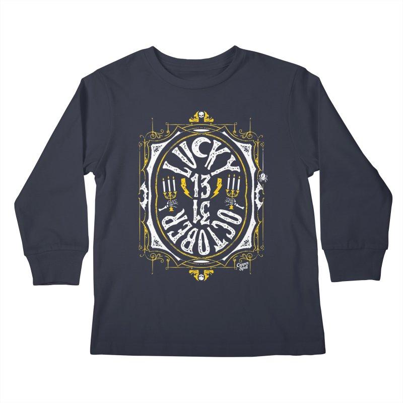 Lucky 13 31 October Kids Longsleeve T-Shirt by Casper Spell's Shop