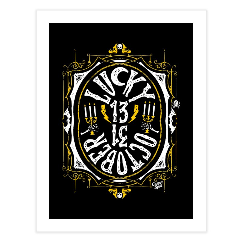 Lucky 13 31 October Home Fine Art Print by Casper Spell's Shop