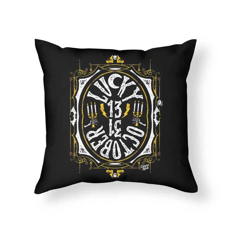 Lucky 13 31 October Home Throw Pillow by Casper Spell's Shop