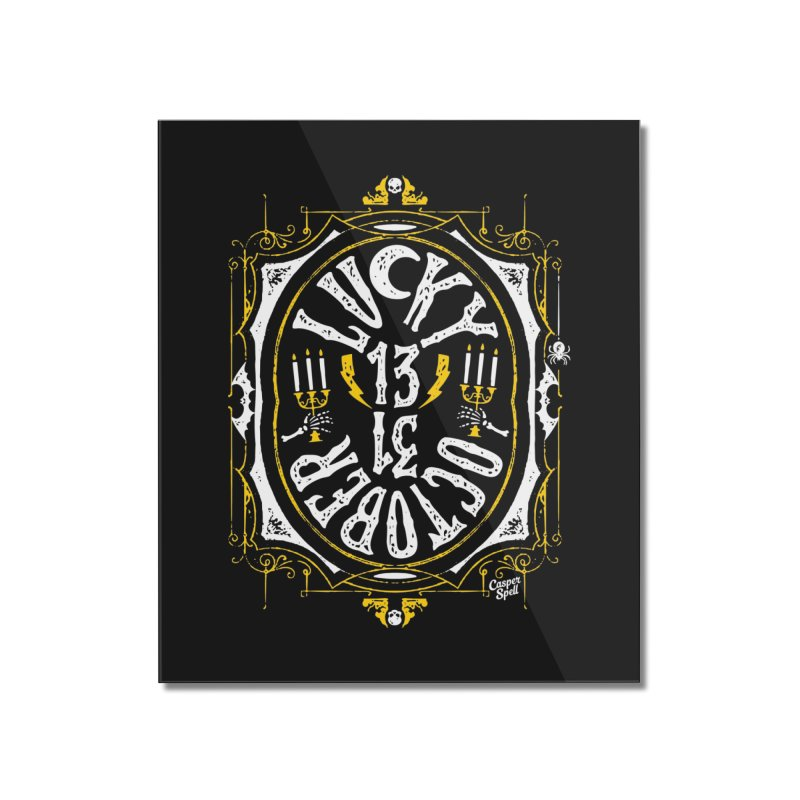 Lucky 13 31 October Home Mounted Acrylic Print by Casper Spell's Shop