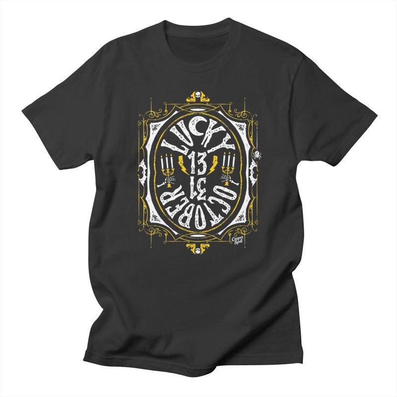 Lucky 13 Men's T-Shirt by Casper Spell's Shop