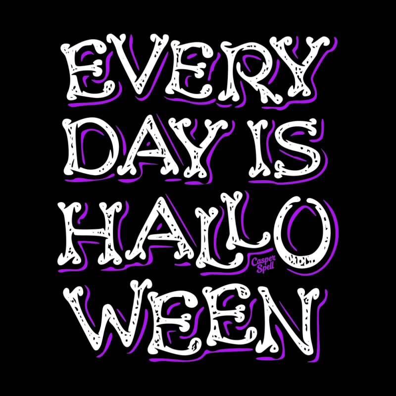 Every Day Is Halloween Accessories Beach Towel by Casper Spell's Shop