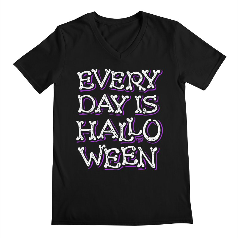 Every Day Is Halloween Men's V-Neck by Casper Spell's Shop