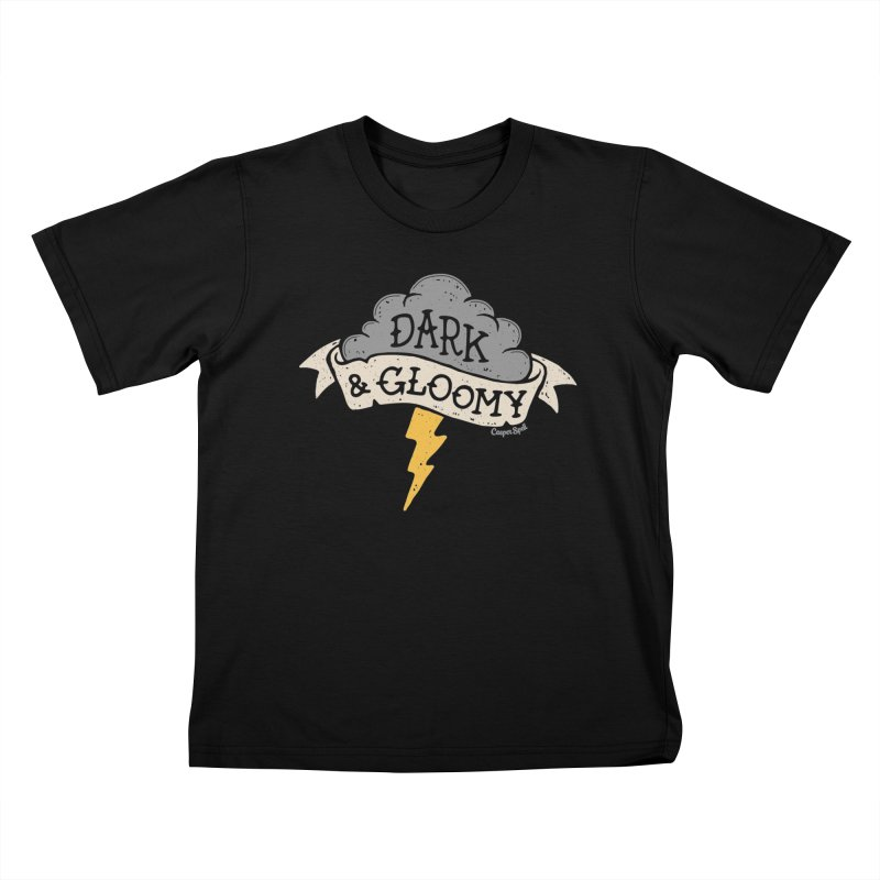 Dark and Gloomy Thunderstorm Cloud Kids T-Shirt by Casper Spell's Shop