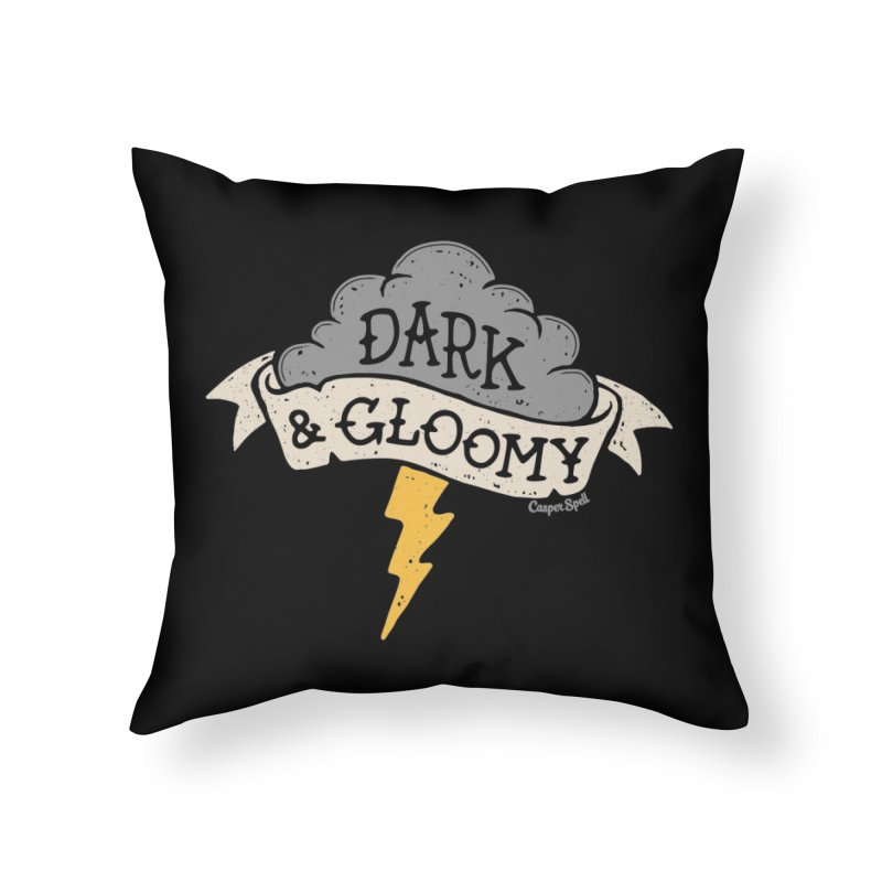 Dark and Gloomy Thunderstorm Cloud Home Throw Pillow by Casper Spell's Shop